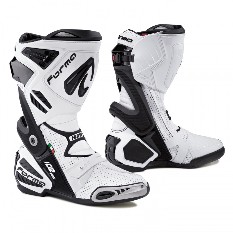 Ice Flow Pro Forma Motorcycle Boots Black