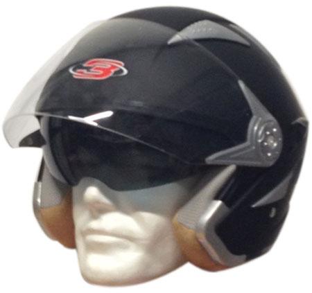 Motocubo Sun jet helmet with sun visor Matt Black