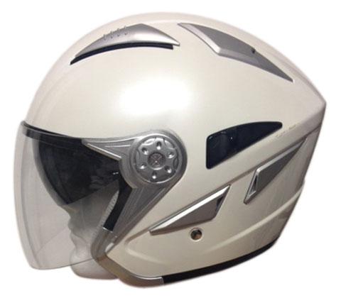 Motocubo Sun jet helmet with sun visor Pearl white