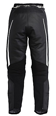 Pantaloni moto donna in pelle Rev'it GT Ladies nero-bianco