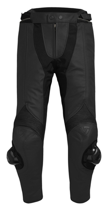 Pantaloni moto donna pelle Rev'it Raven Nero - Accorciato