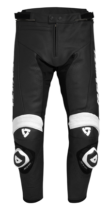 Pantaloni moto in pelle Rev'it Tarmac Nero-Bianco