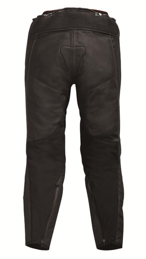 Leather motorcycle pants Rev'it Warrior Black White - Elonga