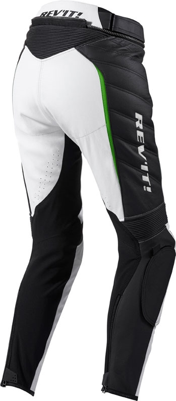 Pantaloni moto donna pelle Rev'it Xena Ladies Bianco verde stand