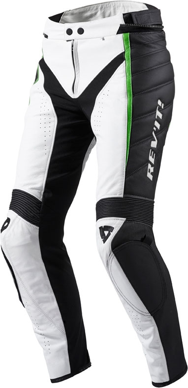 Rev'it Xena Ladies leather pants white green long