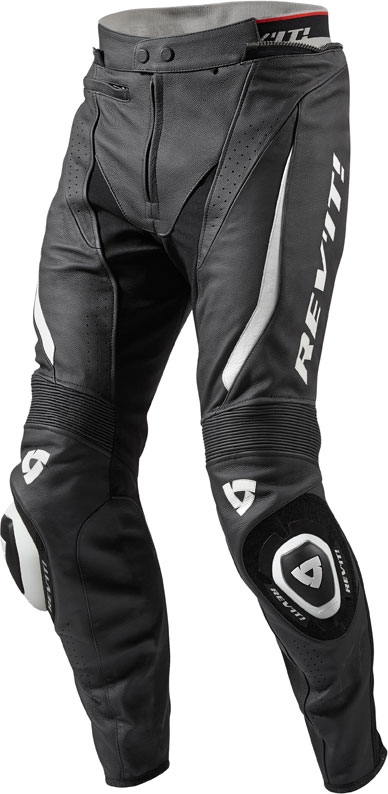 Rev'it GT-R leather pants black white long
