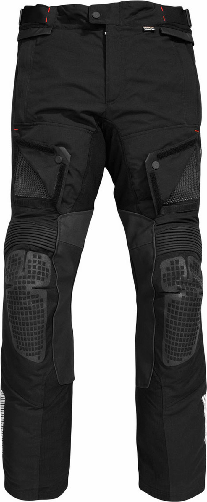 Pantaloni moto Rev'it Defender GTX Nero - Allungato