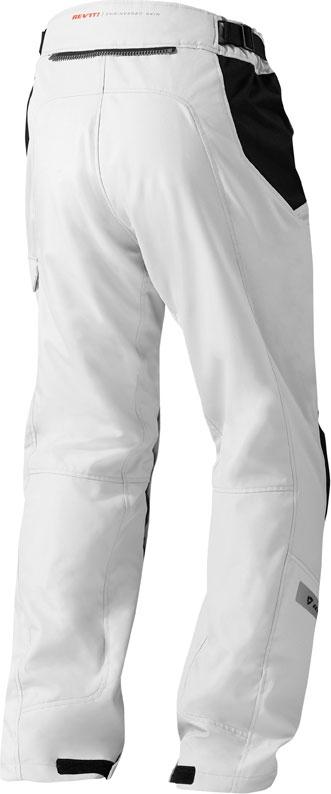 Pantaloni moto Rev'it Enterprise argento neri allungati