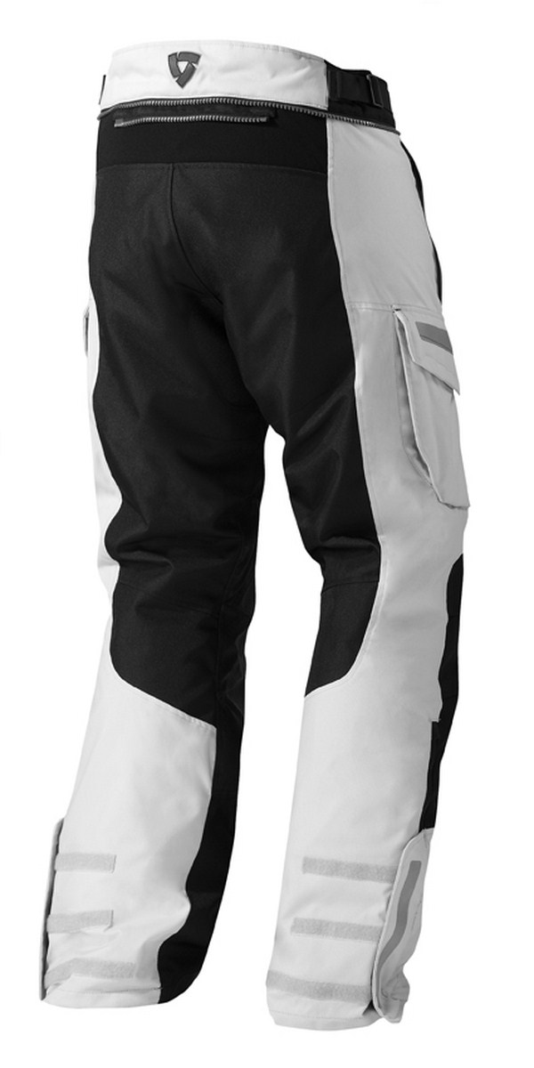 Pantaloni moto Rev'it Sand 2 Argento Nero - Accorciato