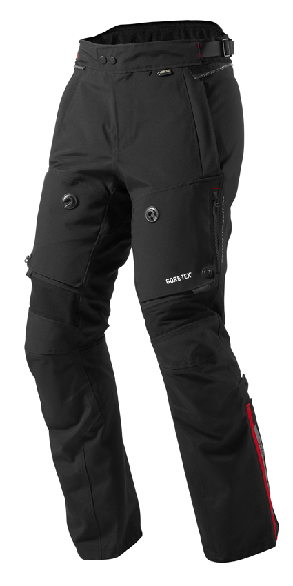 Motorcycle trousers Rev'it Poseidon GTX Black - Stretched