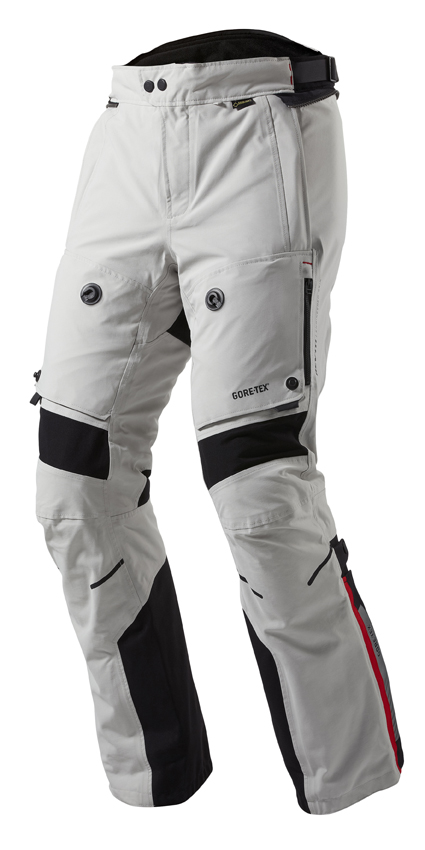 Motorcycle trousers Rev'it Poseidon GTX Grey Black - Shorten