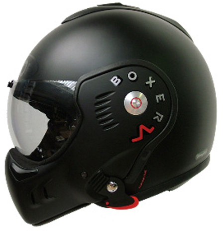Roof Boxer RO5 V flip off helmet Matt Black