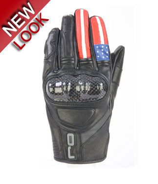 OJ Fighter USA leather gloves