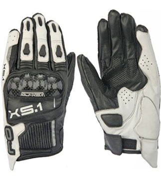 OJ XS.1 leather gloves black.white