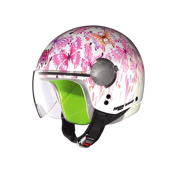 Casco moto bambino Grex G1.1 Visor Fancy white 01