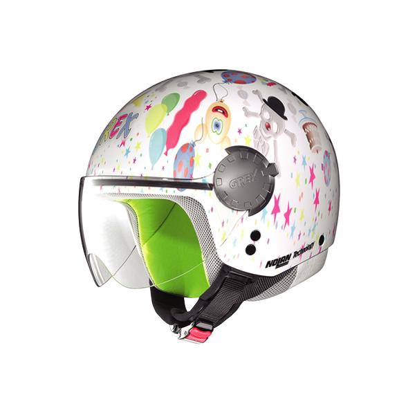 Casco moto bambino Grex G1.1 Visor Fancy white 02
