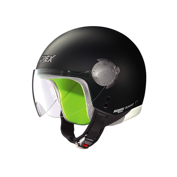 Grex G1.1 Visor Kinetic  kid demi-jet helmet flat black