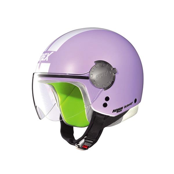 Grex G1.1 Visor Stripes flat lavender kid demi-jet helmet
