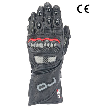Oj Duel leather gloves black