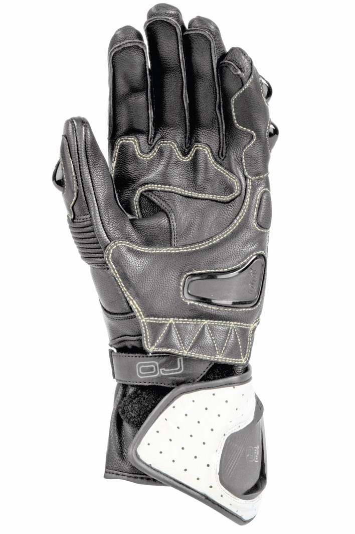 OJ Duel leather gloves white black red