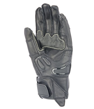 Oj Idole leather gloves black
