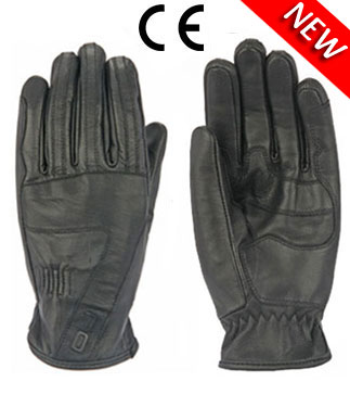 Oj Midnight leather gloves black