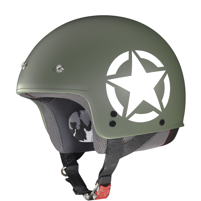 Helmet demi jet Grex G2.1 Army flat military cool grey