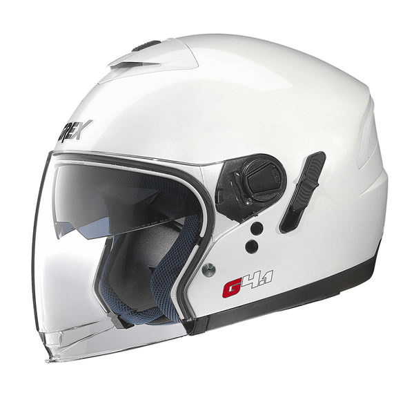 Grex G4.1 Kinetic jet helmet White