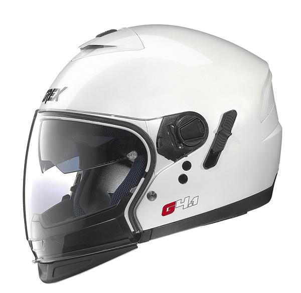 Grex G4.1 Pro Kinetic flip off helmet White
