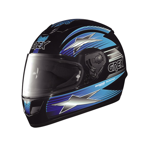 Grex G6.1 Decor full-face helmet black-blue