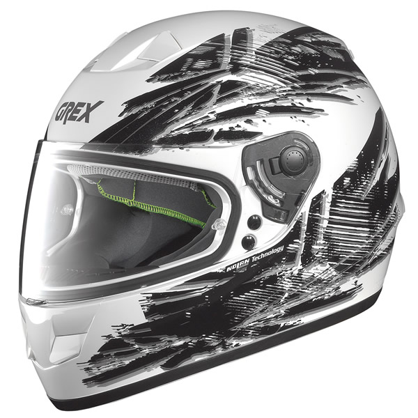 Helmet full-face Grex G6.1 Flag metal white