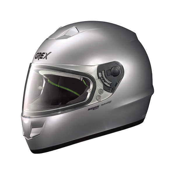 Grex G6.1 Kinetic full-face helmet metal silver