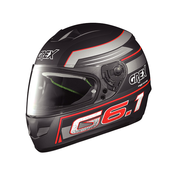 Grex G6.1 Podium full-face helmet flat lava grey