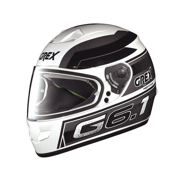 Casco moto Grex G6.1 Podium metal white