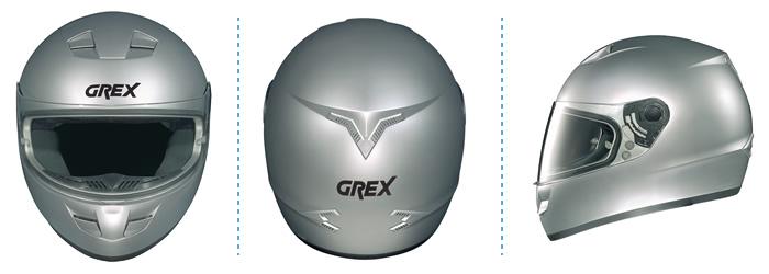 Helmet full-face Grex G6.1 Sprint metal white