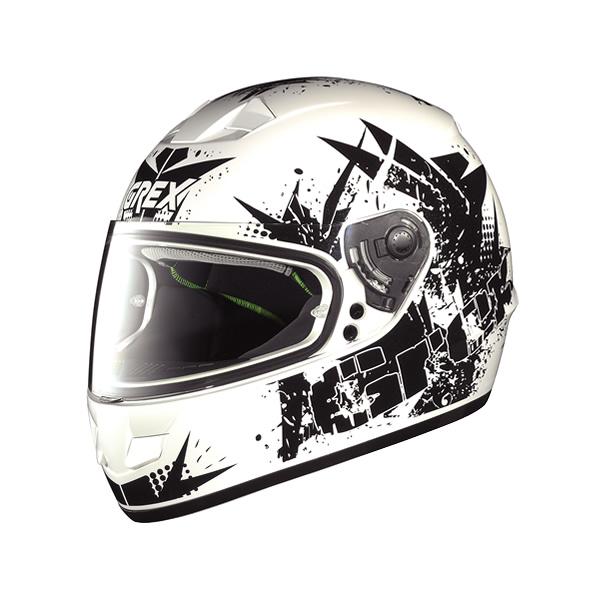 Grex G6.1 Whirl full-face helmet  metal white