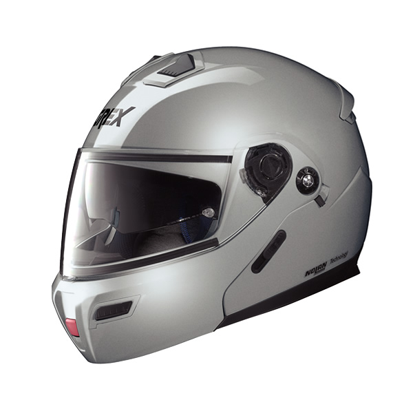 Grex G9.1 Kinetic full-face flip-up helmet metal silver