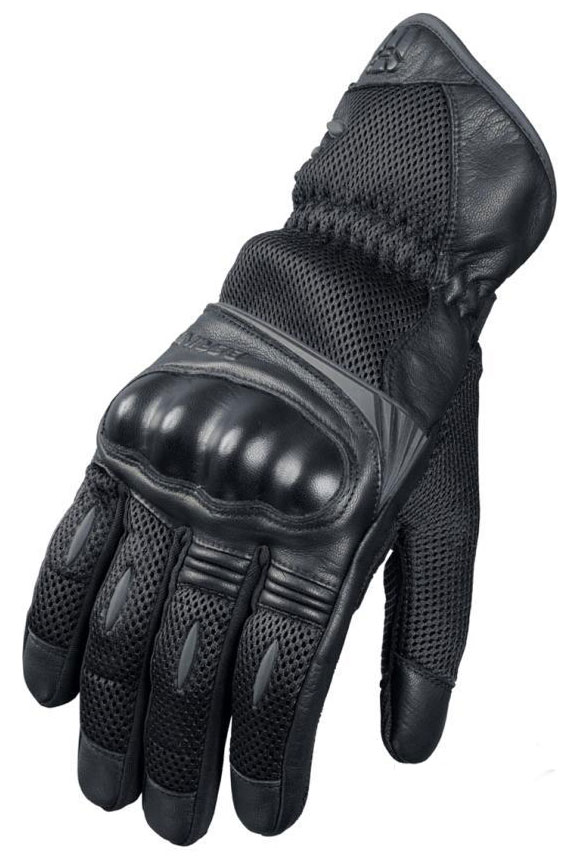 Woman summer motorcycle gloves approved Bering TX08 Black