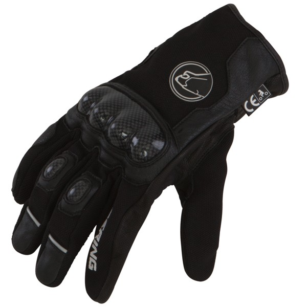 Summer Motorcycle Gloves Black leather Approved Bering Match