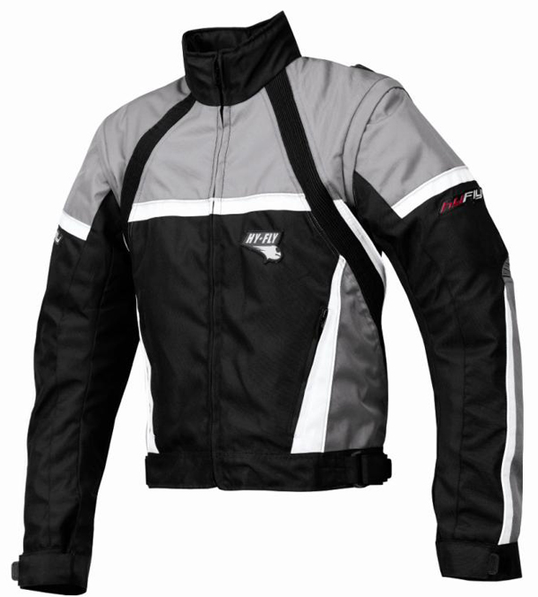 Giacca moto Hy Fly Game Tex Grigio