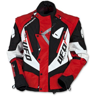 UFO enduro jacket with detachable sleeves Red Ranger