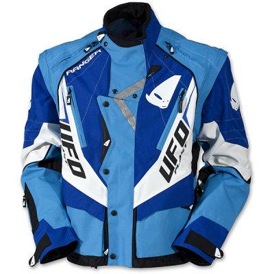 UFO enduro jacket with detachable sleeves Blue Ranger