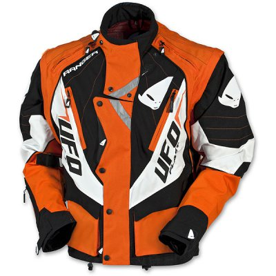 UFO enduro jacket with detachable sleeves Orange Ranger