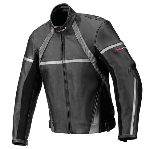 Hy Fly Game leather jacket Black Grey