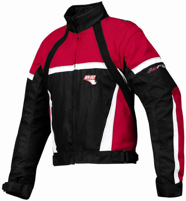 Giacca moto Hy Fly Game Tex Rosso