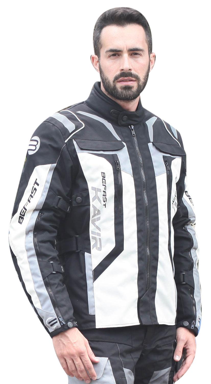Giacca moto Befast Kavir 4 stagioni Nero Panna