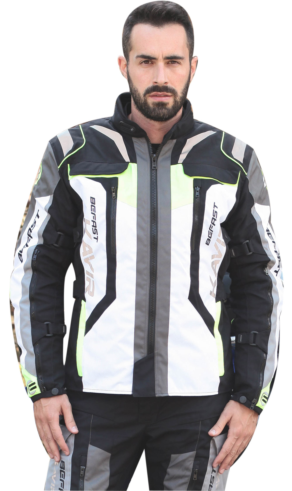 Giacca moto Befast Kavir 4 stagioni Giallo fluo