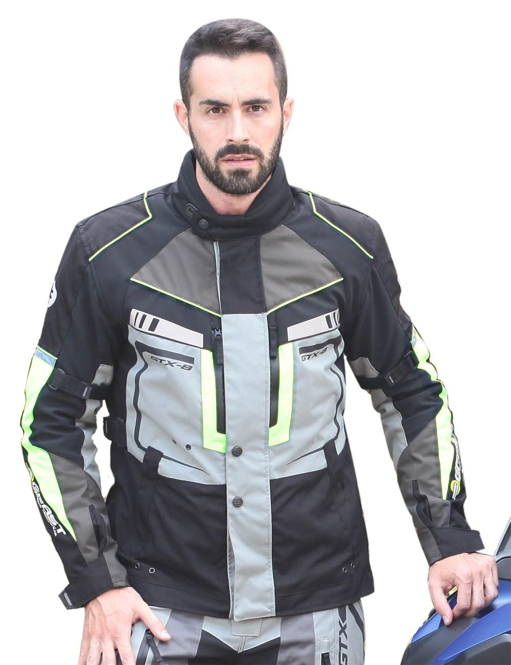 Giacca moto Befast Touring GTX-8 Giallo fluo