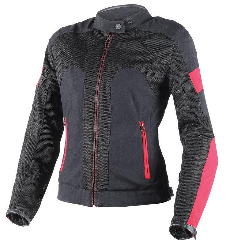 Giacca moto donna Dainese Air Frame Tex Lady nero grigio fuxia