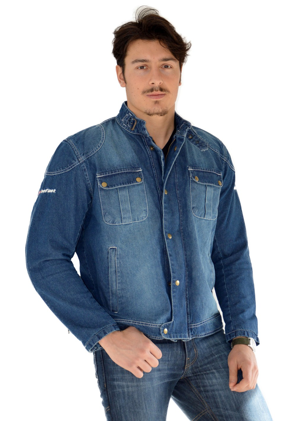 Giacca moto jeans estiva Befast James